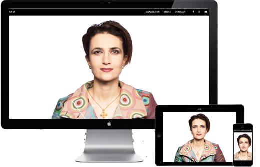 Maria Makraki, Dirigentin, eine Webseite von webdesign berlin
