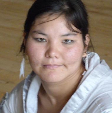 Mensch mit Handycap aus Bischkek, Kirgisien.